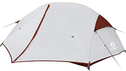Bessport Zelt 2 Personen Camping Zelt, 2 Türen Ultraleicht Zelte Winddicht &Wasserdicht, 3-4 Saison,...