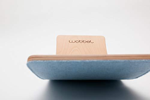 Wobbel Wobbelboard Starter transparent lackiert mit Filz sky blau