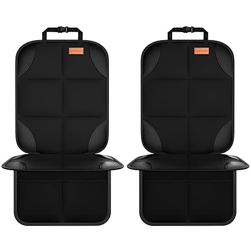 Smart eLf Kindersitzunterlage,2 Stück sitzschoner auto kindersitz Isofix Geeignet, mit dickster...