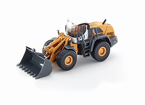 siku 3533, Liebherr L580 2plus2 Radlader, 1:50, Metall/Kunststoff, Gelb, Bewegliche Funktionen
