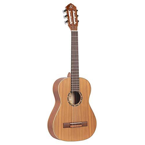 Ortega Guitars R122-1/2 Zedern-/Mahagoniholz Konzertgitarre (Größe: 1/2, natur satiniert, Luxus Gigbag)