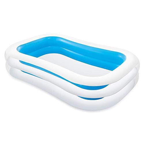Intex Swim Center Family Pool - Kinder Aufstellpool - Planschbecken - 262 x 175 x 56 cm - Für 6+ Jahre,...