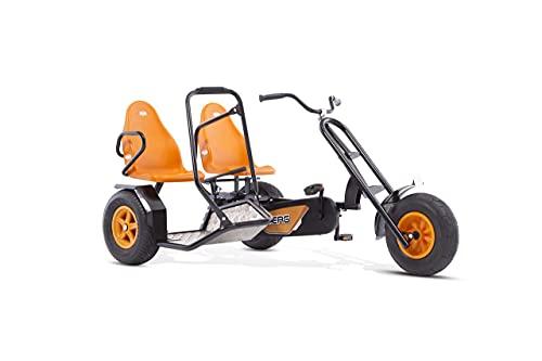 BERG Zweisitzer Pedal-Gokart, Abnehmbarer Beifahrersitz, Für Kinder und Erwachsene ab 5 Jahren, Bis 100...