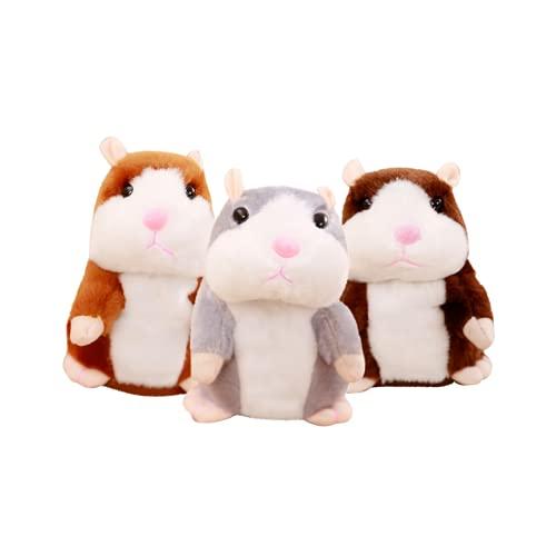 FIRFONMA Sprechende Hamster Plüschtier Wiederholt Elektronische Haustiere Spielzeug für Baby Kinder