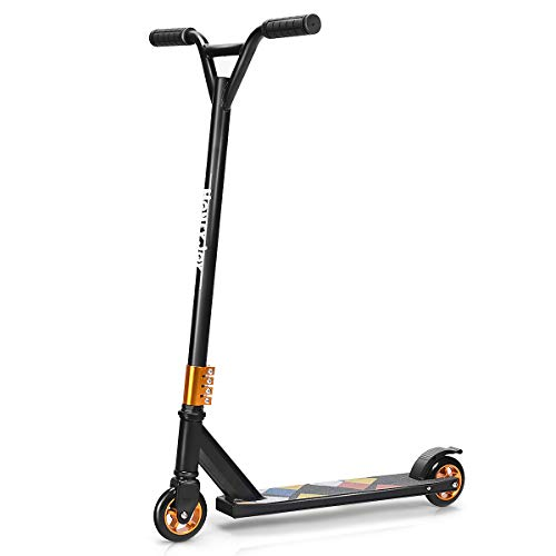 DREAMADE Stunt Scooter aus Alu, Kick-Scooter Tretroller bis zu 100 kg Belastbar, Funscooter City Scooter...