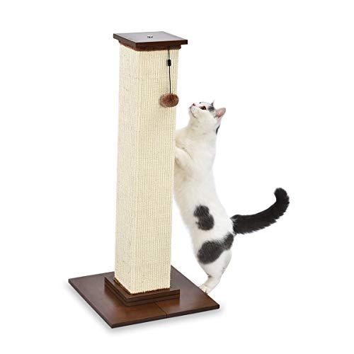 Amazon Basics – Hoher Katzen-Kratzbaum, groß, hochwertig, 41 x 89 x 41 cm, Holz