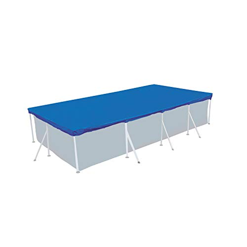 Poolabdeckung 500x270cm rechteckig für Frame Pool 450x220cm - mit Fixierseilen - 110g/m² PE -...
