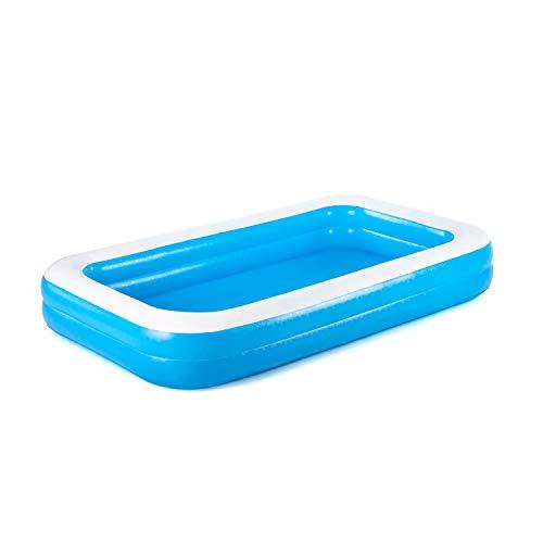 Bestway 1026034XXX20 54150 Family Pool, Planschbecken für Kinder, aufblasbar, blau, 305x183x46 cm, Color