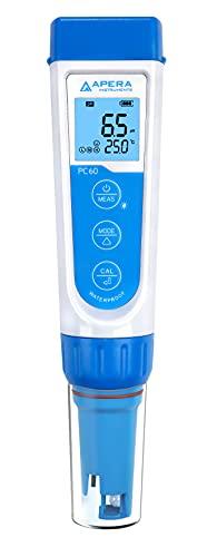 Apera Instruments PC60 Premium 5-in-1 Multiparameter-Messgerät (pH-Wert, Leitfähigkeit/EC, TDS,...