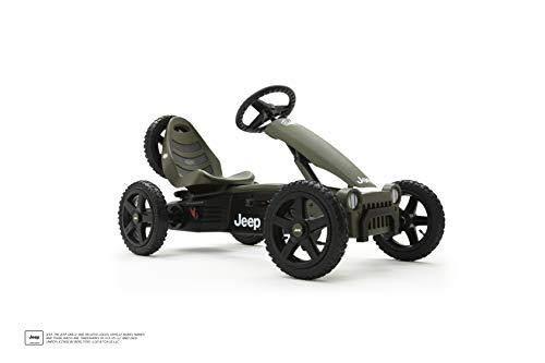 BERG Gokart Rally Jeep® Adventure | Kinderfahrzeug, Tretauto mit verstellbarer Sitz, Mit Feilauf,...