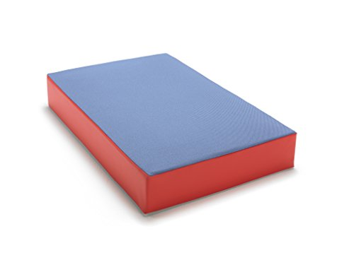 traturio Hüpfmatratze in tollen Farben für alle kleinen Hüpfer 107x70x17 cm Jeansblau/rot