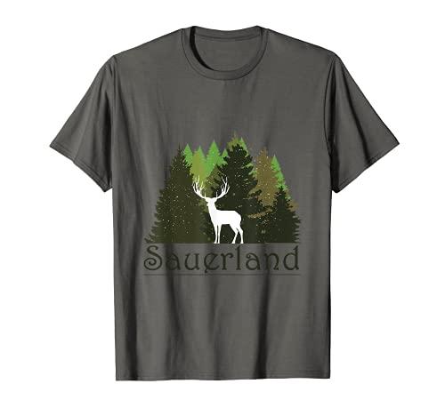 Sauerland Sauerlandliebe Wandern Lagerfeuer Campen Wald Berg T-Shirt