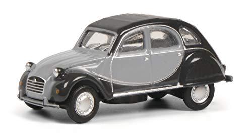 Schuco Citroën 2CV Charleston, Modellauto, Maßstab 1:87, hellgrau/dunkelgraues Charleston Design,...