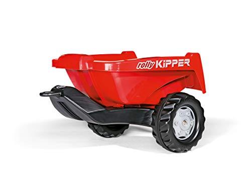 Rolly Toys rollyKipper II für Kinderfahrzeuge (rot, für Kinder von 2,5 - 10 Jahre, Einachsanhänger,...