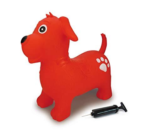 Jamara Hüpftier Hund mit Pumpe, BPA-Frei, bis 50 kg, fördert den Gleichgewichtssinn und die motorischen...