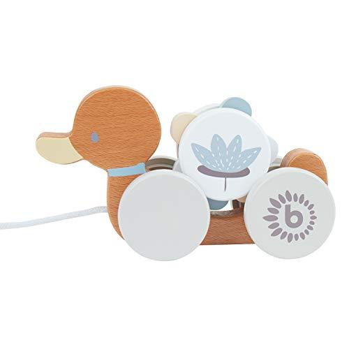 Bieco Nachziehente Holz   Nachziehspielzeug ab 1 Jahr   Süßes Nachziehtier aus Holz   Baby Spielzeug...