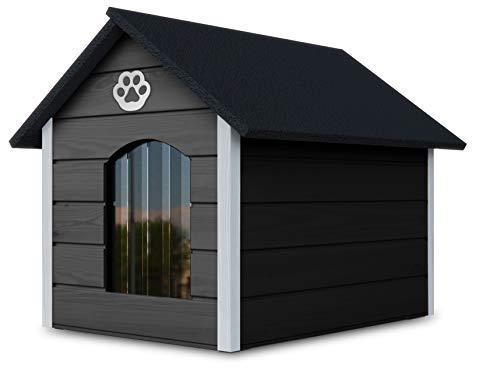 Hundehaus aus Holz mit isolierten Wänden, Wasserdicht, XL, Braun - Weiß