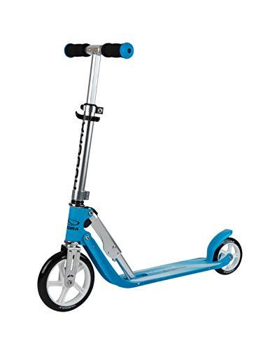 HUDORA 14202/00 Little BigWheel, himmelblau-Scooter Roller Kinder-Verstellbare Lenkerhöhe von 68 bis 74...