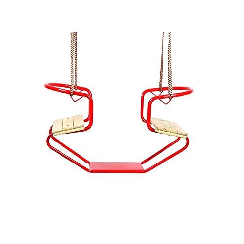 Gartenpirat Gondelschaukel Doppelschaukel aus Metall mit Sitzfläche aus Holz, hellgrün