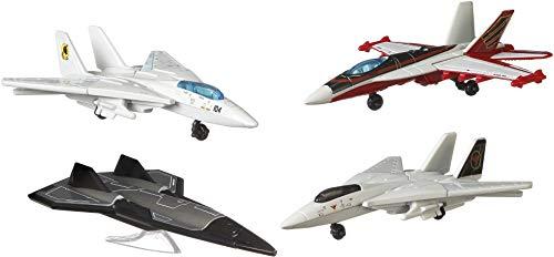 Matchbox GPF72 - Matchbox Top Gun Skybusters Then & Now 4er Pack, Spielzeug ab 3 Jahren