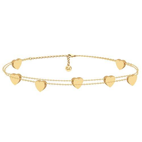 Good.Designs ® Armkette für Frauen   Damen Kette Gold Goldene Golden Goldkette goldfarben Damenarmkette...
