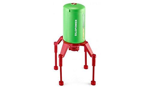 siku 5602, Standsilo SILOPOWER, Kunststoff, Grün/Rot, Flexible Anpassung der Durchfahrtshöhe für...