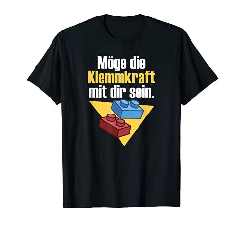 Möge die Klemmkraft mit dir sein - Klemmbausteine T-Shirt