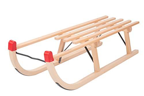 Colint Unisex– Kinder DTL 50110 Davos Schlitten traditionell 110 cm Gepäck-Kleidersack, Holz