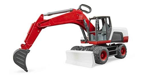 bruder 3411 Mobilbagger, Rot, Weiß, Schwarz