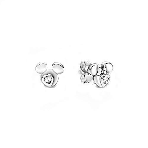 Pandora Disney Micky Maus & Minnie Maus Silhouetten Ohrringe aus Sterling Silber mit einem Zirkonia...