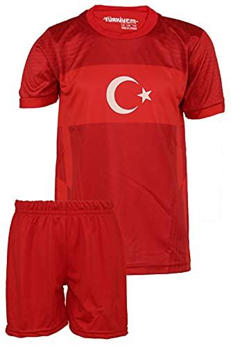 StoneMale 2021 Türkei Heim Kein Name Kinder Trikot Europäische Nationalmannschaften (140, 6-7 Jahre)