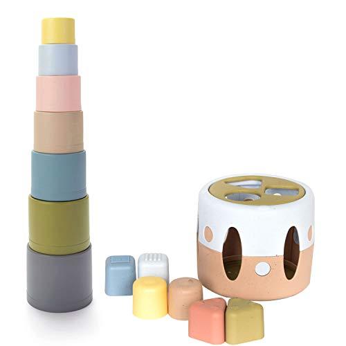 Dantoy® tiny BIO Sortierbox & tiny BIO Stapelbecher Lernspielzeug