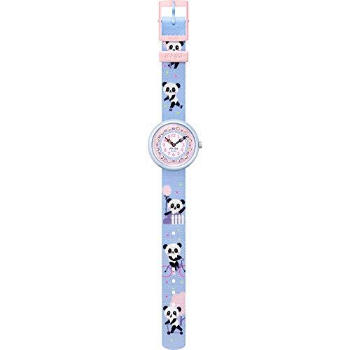 Flik Flak FBNP163 Mädchen-Uhr Pandi Panda Analog Quarz Textil-Armband
