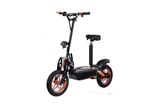 E-Scooter bis zu 40 km/h schnell - mit 30km Reichweite, 48V | 1500W | 12AH Akku, mit Sitz, Bremsen und...