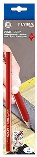 Lyra L4332101, LYRA Zimmermannstift 333 oval 24cm lang, Bleistift in Profi-Ausführung, ideal für...