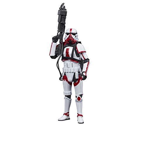Star Wars The Black Series Incinerator Trooper 15 cm große Action-Figur zu The Mandalorian, Spielzeug...