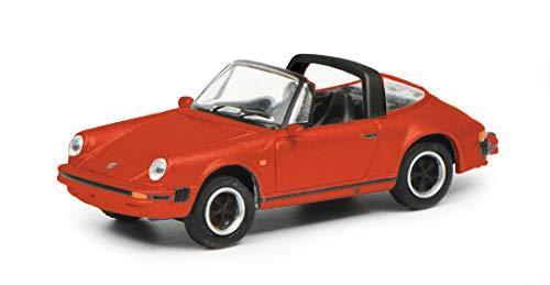 Schuco 452656400 Porsche 911 3.2, Carrera, Targa Version, mit schwarzem Interieur, Modellauto, Maßstab...