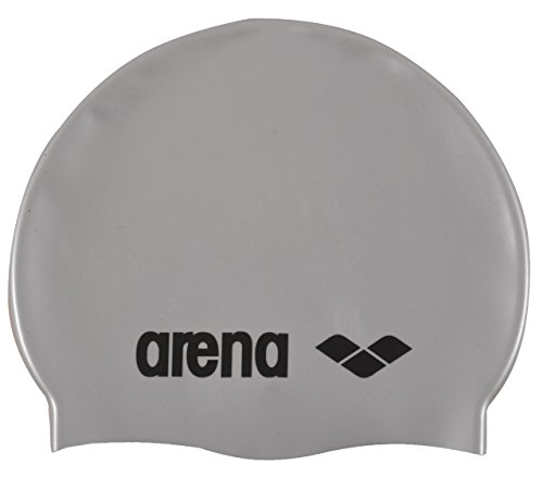 Kinder badekappe CLASSIC SILICONE JR silber Arena