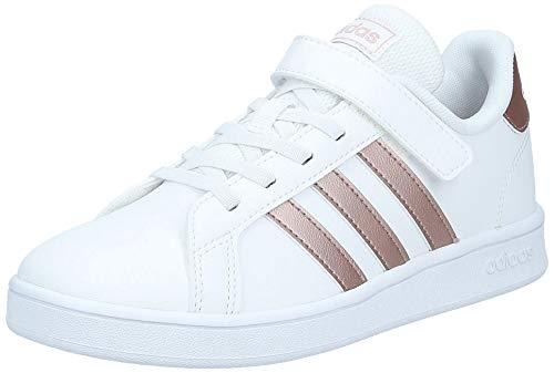 adidas Grand Court C Sneaker, FTWWHT/COPPMT/GLOPNK, 34 EU