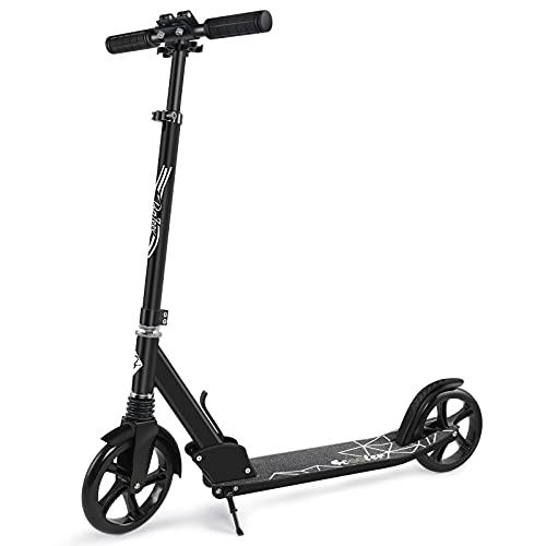 BELEEV Roller Erwachsene, Kick Scooter mit 2 Rädern, Cityroller mit Federung, Schnellverschluss Klappbar...