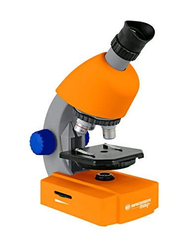 Bresser Junior Mikroskop 40x-640x mit LED-Durchlichtbeleuchtung mit Batteriebetrieb für Kinder und...