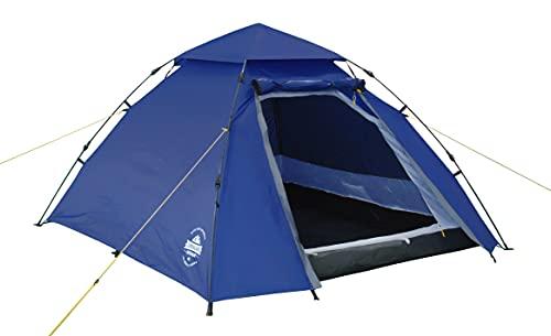 Lumaland Outdoor Pop Up Kuppelzelt Wurfzelt 3 Personen Zelt Camping Festival etc. 215 x 195 x 120 cm...