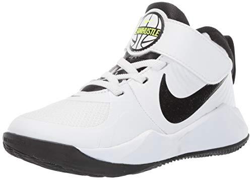 Nike Unisex Kinder Team Hustle D 9 (Ps) Basketballschuhe, Weiß White Black Volt 000, 28.5 EU