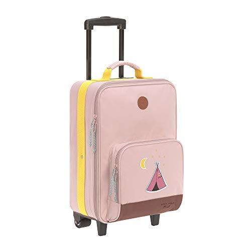 LÄSSIG Kinder Trolley Kindergepäck Reisekoffer mit Packriemen und Rollen ab 3 Jahre/Kids Trolley,...