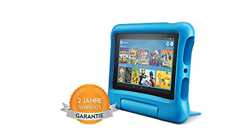 Fire7 Kids-Tablet | Ab dem Vorschulalter | 7-Zoll-Display, 16GB, blaue kindgerechte Hülle