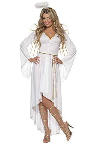 Smiffys 36977S Damen Engel Kostüm, Kleid, Gürtel, Heiligenschein und Flügel, Größe: S, 36977
