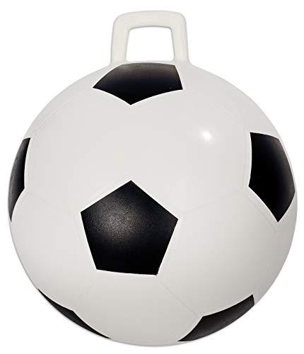 Betzold Sport 36358 - Hüpfball Kinder - Fußball-Design Sprungball - Spring-Ball
