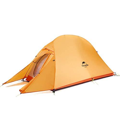 Naturehike Cloud-up Ultraleichte 1 Personen Single Zelt 3-4 Saison Camping Zelt (210T Orange Upgrade)