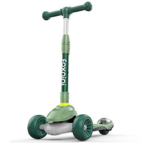 Lihgfw Scooter for Kinder Kleinkind-Scooter, faltbar und verstellbar in Höhe, Lean to Steer 3-Rad-Roller...