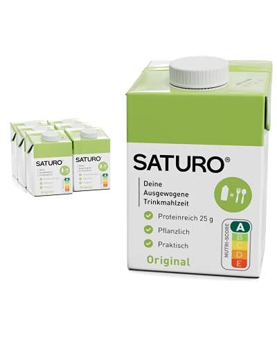 SATURO® Trinkmahlzeit Original | Astronautennahrung Mit Protein & 500kcal | Vegane Trinknahrung Mit...
